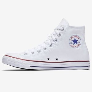 White High Top Converse Size 10 Women/8 Men